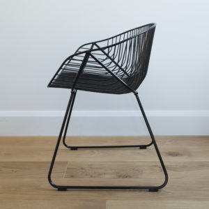 Black wire Mid century style outdoor dining or cafe chair - outdoor furniture range