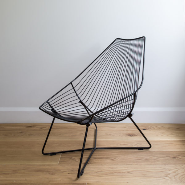Black white outdoor lounger, outdoor furniture