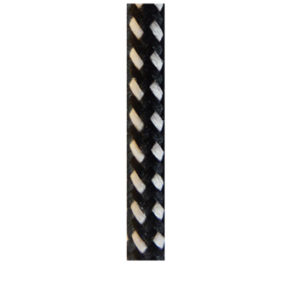 COLOURED ELECTRICAL CORD - BLACK & WHITE SPECKLE
