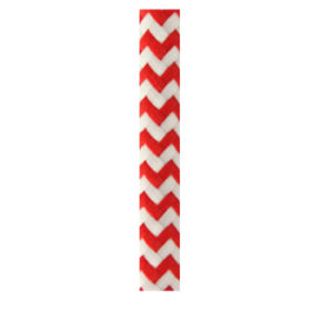 COLOURED ELECTRICAL CORD - Red & White zigzag