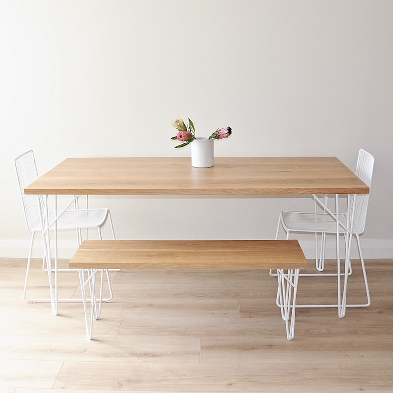 White Oak Table ~ Tongariro oak dining table ico traders