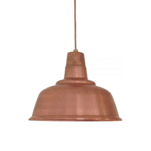 solid copper loft light