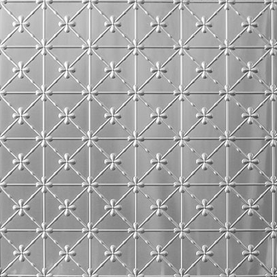 Pressed metal panel pattern, Clover design by Pressed tin panels
