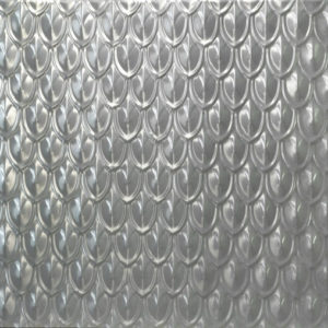 Pressed metal panel pattern, Fishscale design by Pressed tin panels