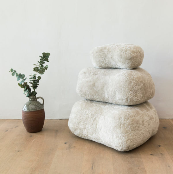 New Zealand wool Sheepskin stones by Wilson & Dorset - Dublin Bay
