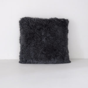 New Zealand wool, shaggy sheepskin cushion