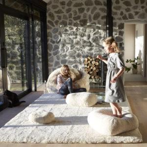 sheepskin rug, sheepskin cushions, wool cushions