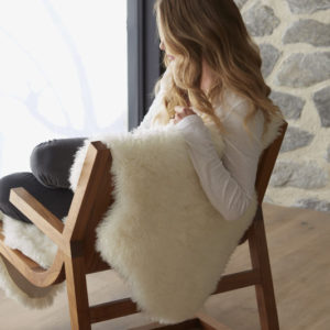 Double sheepskin in off white