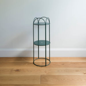 Mid sized wire plant stand by Ico Traders - Mahoe stand - Dark Moss Green