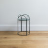 Small sized wire plant stand by Ico Traders - Mahoe stand - colour dark moss green