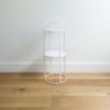 Mis sized wire plant stand by Ico Traders - Mahoe stand -colour white