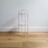 Wire furniture. Mid sized wire plant stand by Ico Traders - Mahoe stand - colour Blush