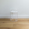 Small sized wire plant stand by Ico Traders - Mahoe stand - colour white