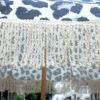 Beach brolly. Sun umbrella with cotton fringing - Animal print umbrella