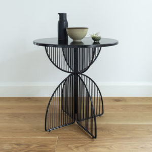 Black outdoor table 75cm high, 75cm diameter