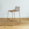 Stackable wire barstool by Ico Traders. Colour Tobacco.