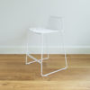 Stackable wire barstool by Ico Traders. Dunedin barstool in White colourway.