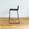 Black wire barstool with a backrest. Dunedin barstool by Ico Traders