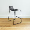 Wire barstool with backrest by Ico Traders. Black Dunedin barstool