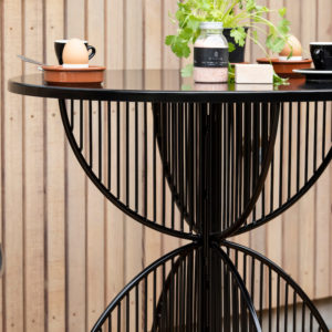 Omaha Metal Outdoor Cafe Table by Ico Traders - outdoor furniture range