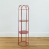 Metal wire plant stand.
