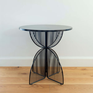 Metal wire outdoor table in colour Black. Omaha cafe table by Ico Traders