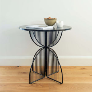 Metal wire table in colour Black. Omaha cafe table by Ico Traders