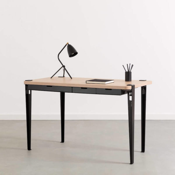 Tiptoe desk in Black