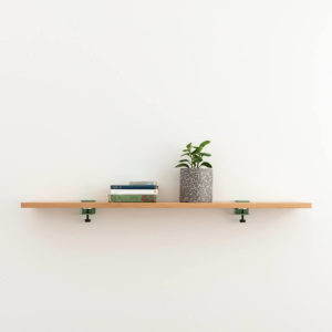 Welcome Shelf 900. Oak shelf by Ico Traders using Tiptoe wall brackets