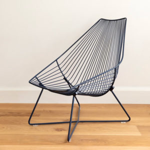 Ico Traders wire outdoor chair - Piha Lounger - Indigo