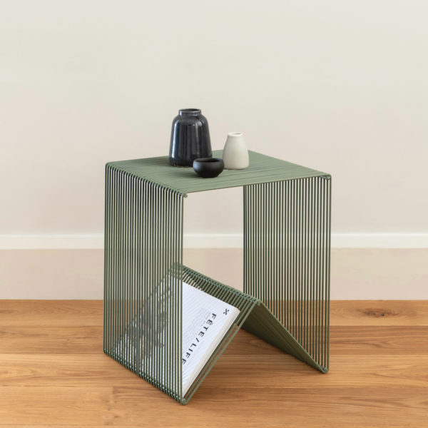 Willowby cube by Ico Traders. Colour - Sage